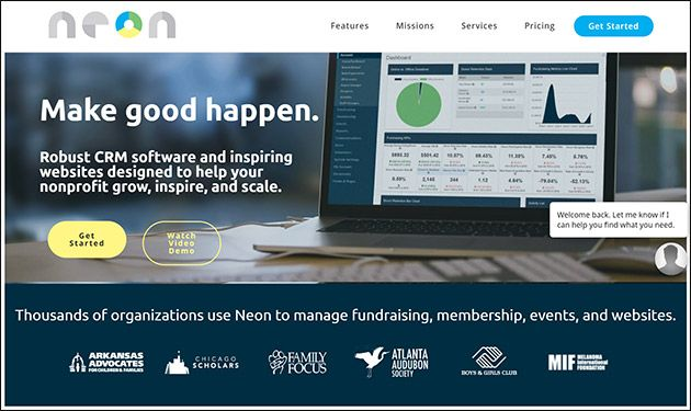 NeonCRM offers great online donation tools.