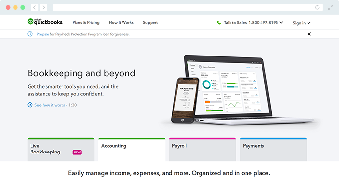 Explore QuickBook's nonprofit software for finance management.