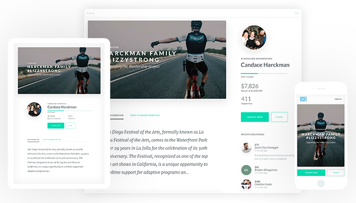 Include visuals across your peer-to-peer fundraising pages to tell your organization's story and connect with prospects.