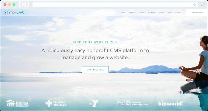 Morweb's CMS doubles as an online donation platform.