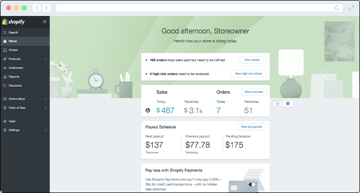 Shopify's donation platform enables nonprofits to easy start an online storefront.