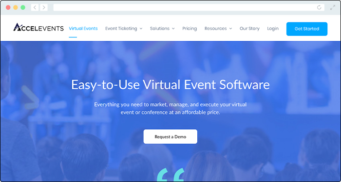 Accelevents offers some of the top online donation tools for virtual events.