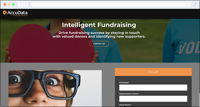 AccuData offers data-based online fundraising tools.