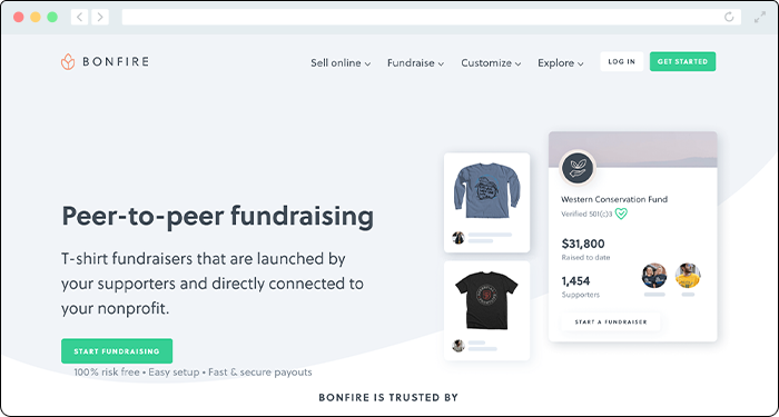 Bonfire's online donation tools put a twist on fundraising.