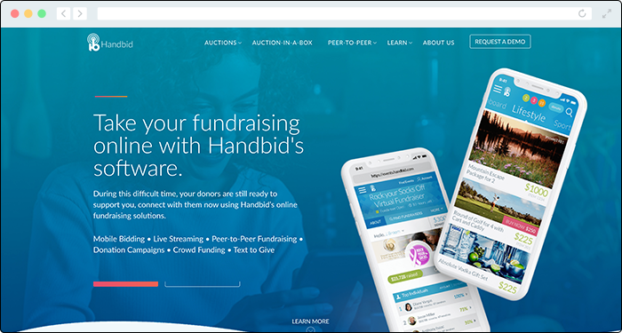 Handbid offers the top online fundraising tools for virtual auctions.
