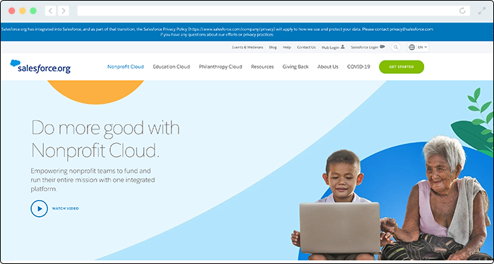 Salesforce is a leading nonprofit donation tool for constituent management.
