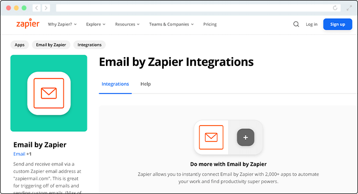 Email by Zapier comes equipped with sufficient automation capabilities for customized communciations.