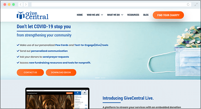 GiveCentral offers a web-based platform for better digital fundraising, making it a great Classy competitor.