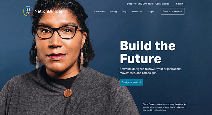 NationBuilder is a leading Kindful competitor that focus on boosting community engagement.