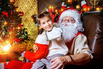 Pictures with Santa is a festive church fundraising idea.